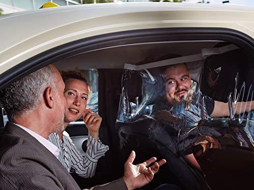 SPIPROTECTOR Trennschutz für Taxi Fahrdienste Mietwagen - aus hochwertiger Segelfolie Handarbeit