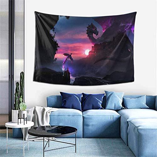 Dragón colgante de tela de pared Tapiz para dormitorio, sala de estar y dormitorio