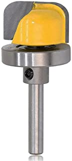 Bestgle Bowl & Tray Template Router Bit with Bearing Carving Bit Cutter 1/4