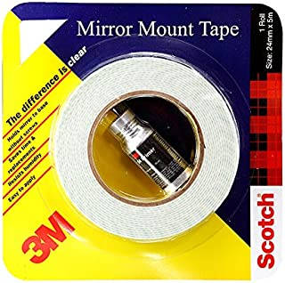 3M IA120170435 Mirror Mounting Tape, 12 mm x 5 m (1 Roll) and adhesion 94 primer 10ml
