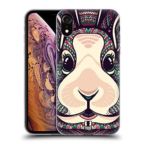 Head Case Designs Lapin Animaux Aztèques Serie 5 Coque en Gel Doux et Fonds D'Écran Design Assorti Compatible avec Apple iPhone XR
