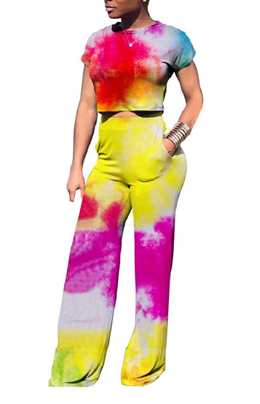 DINGANG Women's Two-Piece Romper Sexy Bandeau Tube Top Flared Bell Bottom Pants Jumpsuits Outfits Plus Size