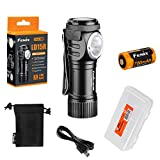 Fenix LD15R 500 Lumen Right-Angle White & Red LED Rechargeable Mini Flashlight with Rechargeable Battery & LumenTac Battery Organizer