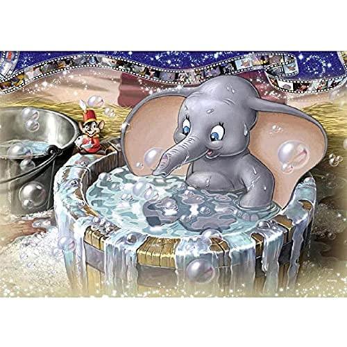 Kit de conteo de punto de cruz kit de impresión decoración del hogar patrón de punto de cruz bebé elefante baño 11CT40x50 tejido preimpreso manualidades de bordado kit de hilo y aguja kit de impresi