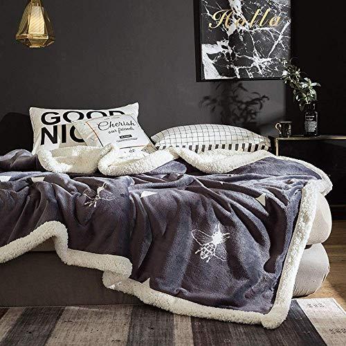 Manta La Manta de Invierno es Suave y cómoda para Mantener la Manta del sofá Caliente Manta de Cama Manta de Regalo