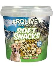 Arquivet Soft Snacks Naturales para Perro en Forma de corazón Mix de sabores - Pollo, Caza, Cordero, salmón y arroz - Chuches para Perro - Golosinas para Perro - 800 g