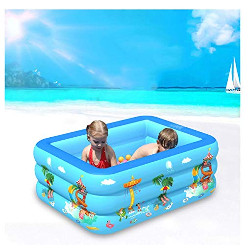 TRYSHA De los niños inflables del adulto grande cubierta de pesca familiar Actividades engrosamiento del rectángulo grande piscina for niños Juego inflable de la piscina piscina del bebé-210 * 135 * 5