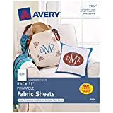 Avery Printable Fabric Sheets, 8.5' x 11', Inkjet Printer, 5 Iron On Transfer Sheets (3384)