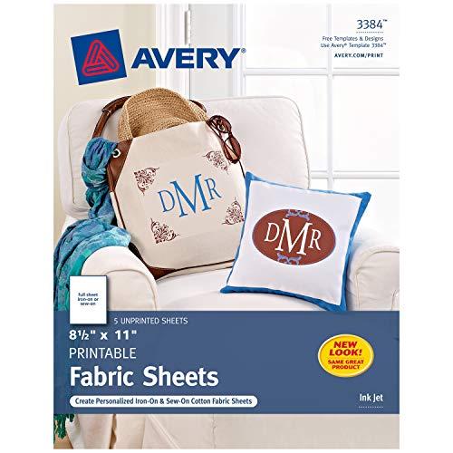 Avery Printable Fabric Sheets, 8.5
