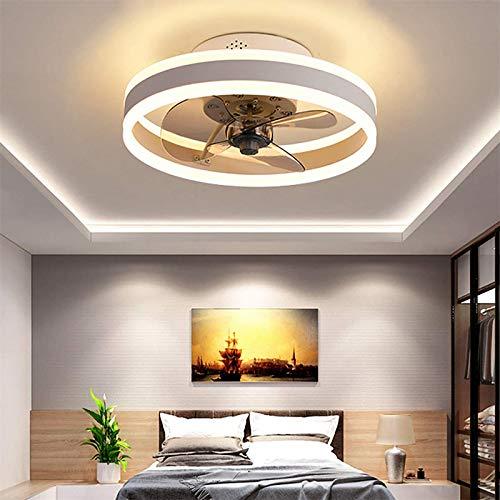 WOERD Ventilador de Techo con Iluminación Invisible Plafon con Luz Control Remoto Velocidad del Viento Ajustable Silenciosa Sala Habitación De Niños Dormitorio Comedor