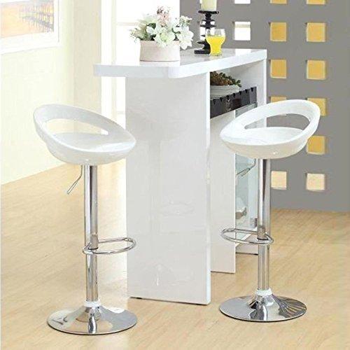 MUPAI EIN Paar Barhocker Barstuhl Tresenhocker Drehbar Mit Lehne Hocker für Küche (Weiß, 2)