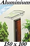 Baumarktplus Aluminium Vordach 150 x 100 cm Türdach Türvordach Haustür Dach Pultvordach Überdachung Haustürvordach