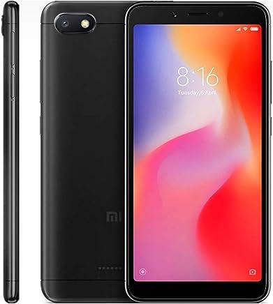 "Xiaomi Redmi 6A Smartphones 5.45"" Pantalla Full HD 2GB RAM + 32GB ROM Procesador Quad-Core de 12 NM, 5MP Delantero y 13MP cámara Trasera, Doble Ranura para Tarjeta SIM + MicroSD (Negro)"