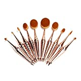 Kingstar 10pcs Oval Face Toothbrush Makeup Brushes Sets Cosmetic Foundation Cream Powder Blush...