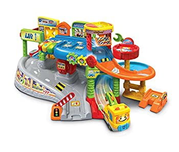 VTech Toot-Toot Drivers Garage Racing Cars for Boys and Girls Car Tracks for Kids with Lights and Sounds Musical Toy Race Track for Children Aged 1 2 3 4 & 5 Years Old