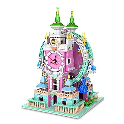 Sunbary Bloques de construcción para casa, torre gigante con motor, construcción modular, 1712 piezas de bloques de sujeción, compatible con Lego Casa (Time Wheel)