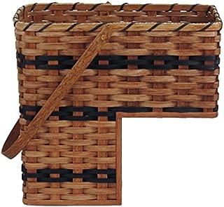 Amish Handmade Step Basket w/Swinging Handle (Blue)