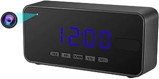 Mofek 隠しカメラ 置き時計型 1080P高画質 音センサー 自動暗視 動作検知機能 16GSDカード付き 長時間録画 時間/温度/カレンダー表示 (新型置き時計型カメラ)