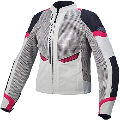 Macna Chaqueta de moto para mujer Event gris/rosa, L