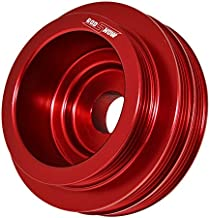 Red Anodized Aluminum Light Weight Under Drive Crank Pulley For B16A B18C B20 Engines