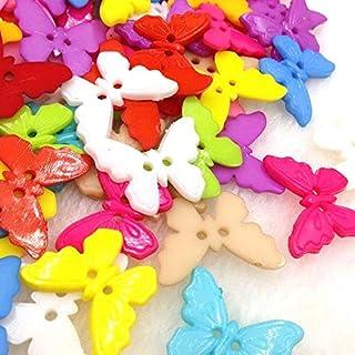 10/50/100pcs Mix Butterfly Plastic Buttons 22mm Sewing Craft 2 Holes PT108 (Color : 10 pcs)