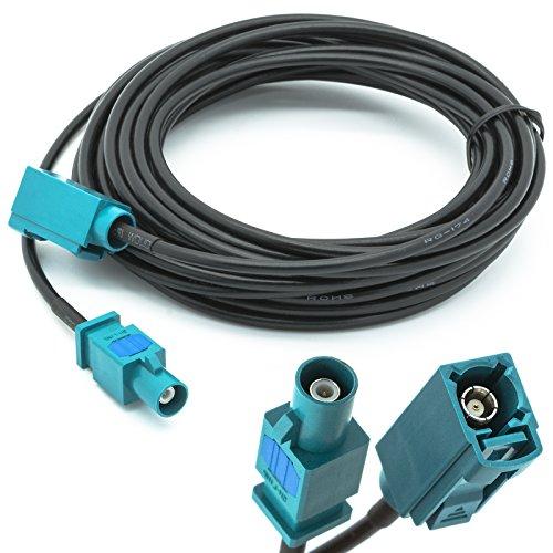 Adapter Universe 5m Verlängerung FAKRA Stecker auf FAKRA Buchse Antennen Adapter RG 174 Typ Z Kabel für Universal GPS- Antennen