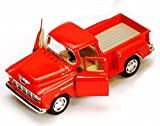 1955 Chevy Stepside Pick-Up Die Cast Collectible Toy Truck (Orange)
