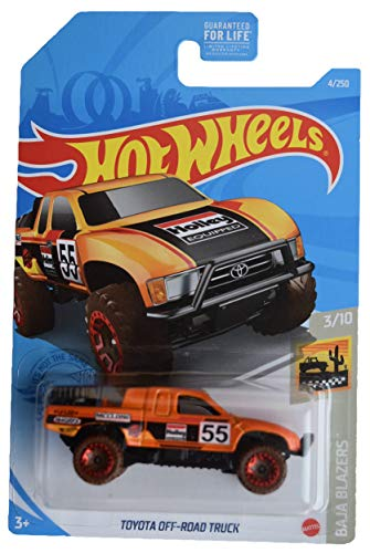 DieCast Hotwheels Toyota Off Road Truck, Baja Blazers 3/10 [Orange]