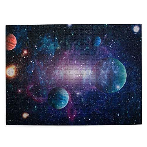 CVSANALA Jigsaw Picture Puzzles 500 Stück,Planetensterne und Galaxien im Weltraum,die die Schönheit der Weltraumforschung Zeigen,Wandkunstwerk Geschenk für Erwachsene,Teenager,Kinder,20.4 x 15Zoll