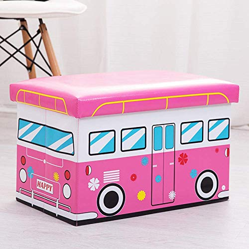 SEESEE.U Laundry Baskets Collapsible,Cartoon Love Bus Laundry Hampers With Handle Large-Capacity Collapsible Easy To Carry Suitable For Bedrooms Laundry Room Storage