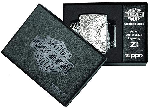 Zippo Collectible Edition 2018-Harley-Davidson-60.004.326-189,95 €, Silber, smal