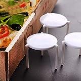 TELEVASO 1000 uds - Mesita/Soporte/guardapizza/separación de Pizza para Llevar, Accesorio de plástico Color Blanco, Ideal para Poner en Cajas de Pizza
