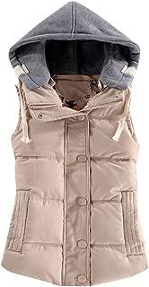 BIKETAFUWY Womens Vest Coat Open Front Sleeveless Faux Fur Vest Jacket Solid Fleece Warm Vest Waistcoat