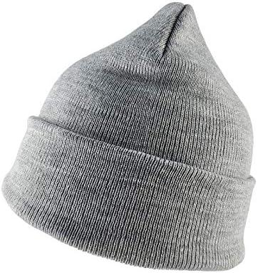 QFWN Klassieke Slouchy Elasticity Mutse Cap Brei Hats voor Men Women ColorLight Grey SizeOne Size