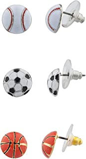 sports themed earrings