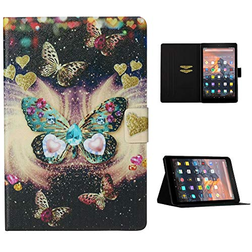 Cestor Flip Tablet Case for Amazon Kindle Paperwhite 1/2/3/4,Ultra Slim Premium Colorful Print PU Leather [Multi-Angle View] Folio Stand Wallet Cover with Auto Wake/Sleep,Pretty Butterfly