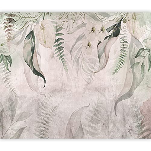 murando Fotomurales Hojas 350x256 cm XXL Papel pintado tejido no tejido Decoración de Pared decorativos Murales moderna Diseno Fotográfico Naturaleza Plantas Botanica Flores Orchidee b-C-0851-a-a