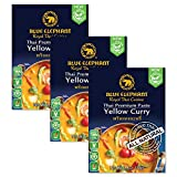 Blue Elephant Royal Thai Cuisine, Yellow Curry, Thai Premium Curry Paste Spice Packet, 2.4oz (Pack of 3)