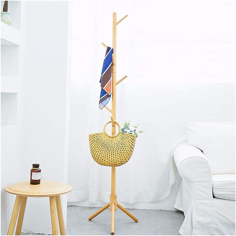 XIAOLONG Standing Coat Rack in Oak Finish Wood Solid Wood Coat Hat Umbrella Floor Standing Rack Prestige Clothes Rack Hall Trees -45