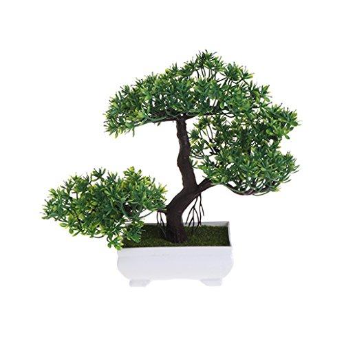Xuniu Emulate Bonsai, Flores Artificiales Falsas Plantas de Maceta Decoraciones del Banquete de Boda Decorativo - Verde