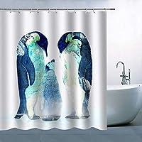 ペンギンのユニークな創造性浴室の窓の装飾のための生地のホックが付いているポリエステル防水シャワー・カーテン60X72in