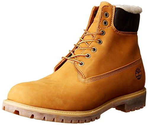 Timberland Herren 6 In Premium Waterproof Warm Lined Stiefel, Gelb (Wheat Nubuck), 50 EU