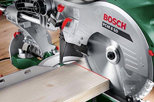 Bosch PCM 8 SD Kapp- & Gehrungssäge mit Zugfunktion, 4x Seitenverlängerung - 5