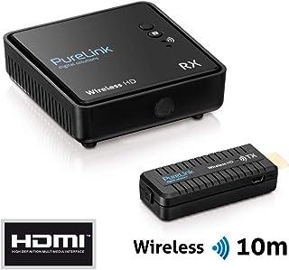 PureLink WHD030Wireless HD Extender Set (Empfänger und Sender) für HDMI mit Full HD 1080p 3D, kabellos, unkomprimiert, Reichweite max. 10m, schwarz