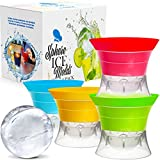 Sphere Ice Maker ball Molds - Large Clear Rubber reusable plastic opal Ice Mold Round Small Ice Cubes Drinks Silicone Tray Silicone Whiskey Ice Cube Trays Balls Makers With Lids Ice Orb