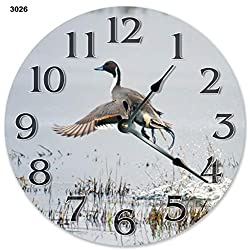 Sugar Vine Art 10.5 Northern Pintail Bird Clock - Large 10.5 Wall Clock - Home Decor Clock