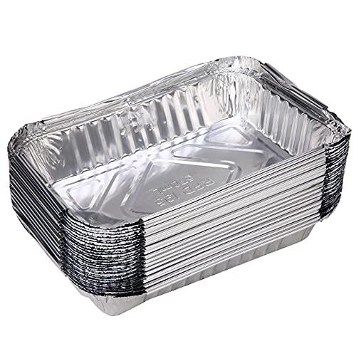 N\C 30 Piezas B Q Goteo sartenes de Papel de Aluminio Grasa Goteo sartenes reciclable Grill Catch Bandeja Ideal para Hornear, cocinar, Calentar, almacenar