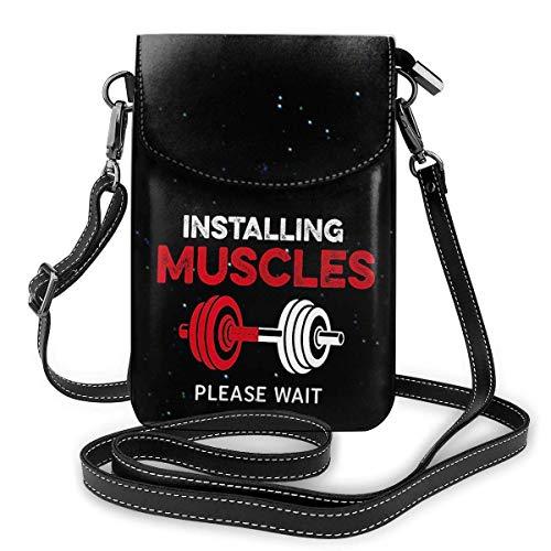 Installieren von Muskeln Gym Fitn Bag Crossbody Handy Geldbörse Geldbörse