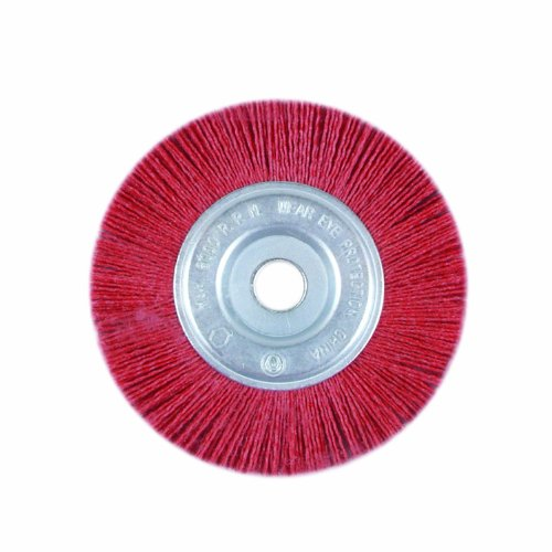 Task Tools T25659 1/2-Inch to 5/8-Inch Coarse Nylon Wheel Brush with 6-Inch Diameter