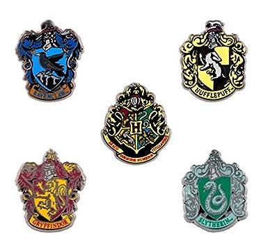 Wizarding World of Harry Potter Hogwarts Miniature Crest 5 Metal Trading Pin Set